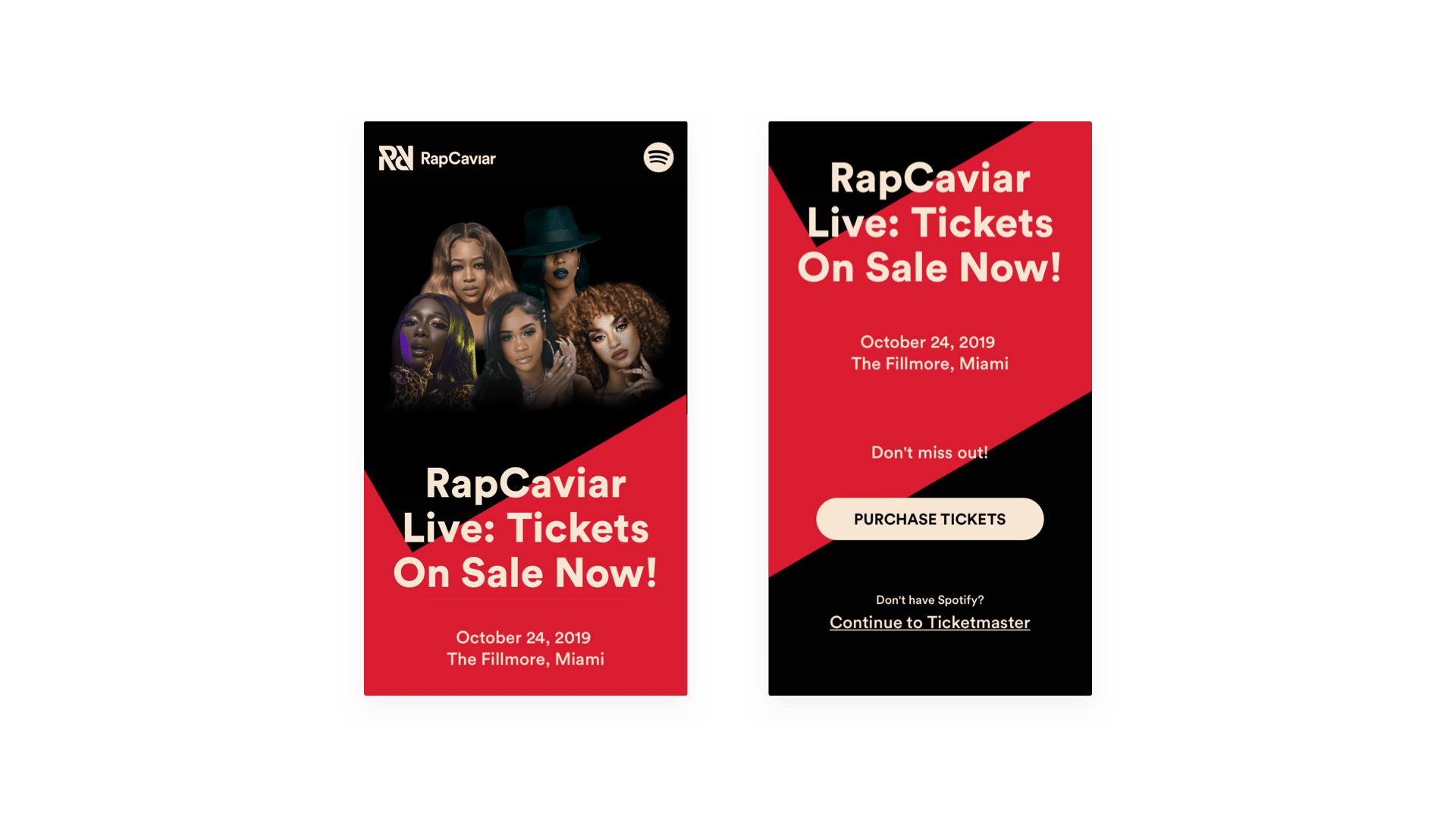 Screenshot of RapCaviar Live on mobile