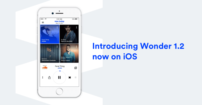 Wonder 1.2 on iPhone
